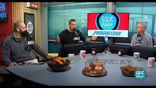 The guys talk college football with  Jonathan Vilma- Golic & Wingo