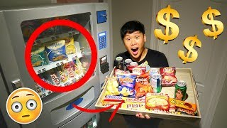 Buying Everything Experiment VENDING MACHINE HACKS TO GET FREE SNACKS!!!!!