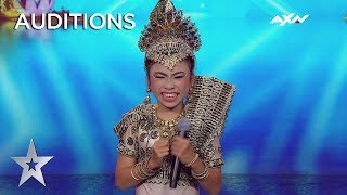 Young Putri Sridevi's Exuberant Dancing Leaves Everyone In Smiles! | AXN Asia's Got Talent 2019