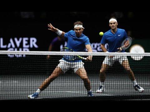 Roger Federer VS Rafael Nadal Men's Doubles Laver Cup Highlights HD納達爾 費德勒精彩合體雙打