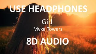 Myke Towers - Girl ( 8D Audio ) 🎧