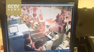 بالفيديو.. لحظة وقوع انفجار بمطار شنجهاى فى الصين