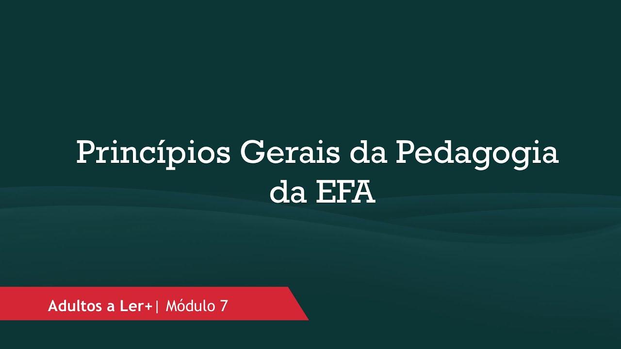 Princípios Gerais da Pedagogia da EFA