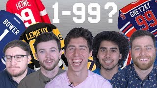 Can you count from 1 to 99 using NHL jersey numbers?