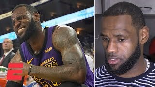 LeBron James gives update on injury and talks Lakers' blowout win vs. Warriors | NBA 2018-19