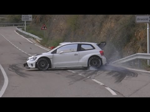 Test Ogier and Latvala with Volkswagen Polo R WRC
