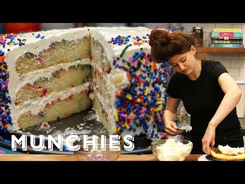 How-To Make Confetti Birthday Cake