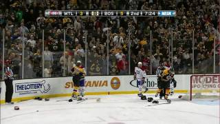 Bruins-Habs brawls, goalie fight uncut 1080p NESN HD 2/9/11