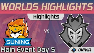SN vs G2 Highlights Day 5 Worlds 2020 Main Event Suning vs G2 Esports by Onivia