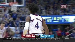 Oklahoma vs Kansas Men's Basketball Highlights