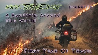 First Year of Travel Around the World by Motorbike in 12 minutes