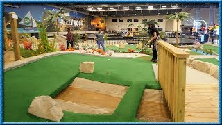 I'VE NEVER SEEN A MINI GOLF COURSE LIKE THIS BEFORE! | Brooks Holt