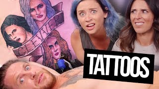 Our Faces TATTOOED On Our Coworker?! (Beauty Break)