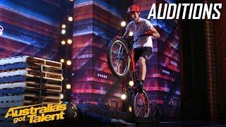 Biker Puts a Judges' Life on the Line   Auditions   Australia's Got Talent