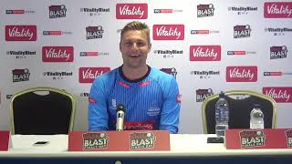 Sussex Sharks v Worcestershire Rapids   Luke Wright reacts to Vitality Blast final defeat