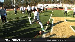 Donald De La Haye Highlights | D1 Scholarship Top Kicking & Punting Prospect | Kohl's Kicking Camps