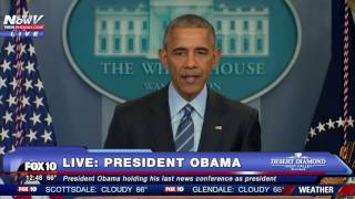 MUST WATCH: President Obama's FINAL Press Conference of 2016