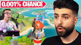Reacting to the LUCKIEST Moments in Fortnite History...
