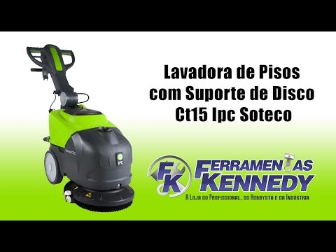 Lavadora de Pisos Ultra Compacta Ct15 Ipc Soteco - Cabo 220V - Vídeo explicativo