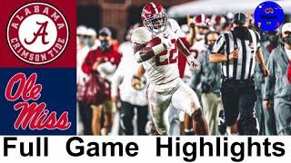 #2 Alabama vs Ole Miss Highlights | (College Football Week 6) | 2020 College Football Highlights