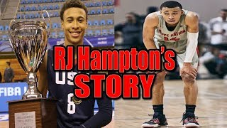 A Top 5 Prospect is NOT Going To Play College Basketball?!? RJ HAMPTON'S CRAZY STORY!!!