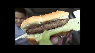 Top 5 Fast Food Burgers & Eating Carls Jr Famous Star @hodgetwins