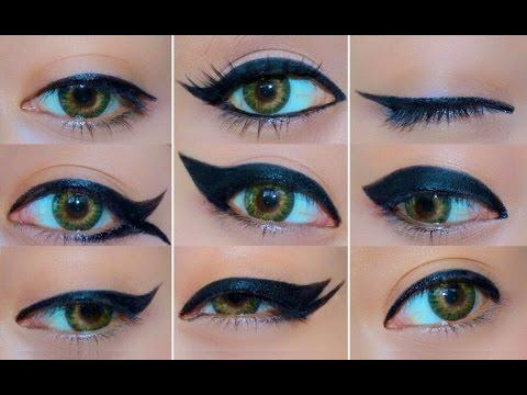 9 Different Eyeliner Looks - YouTube