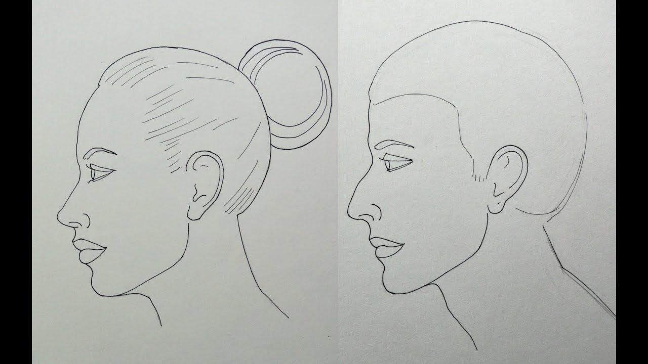 Como Dibujar Y Pintar Facil El Rostro De Una Mujer De: Cómo Dibujar Un Rostro De Perfil Fácilmente