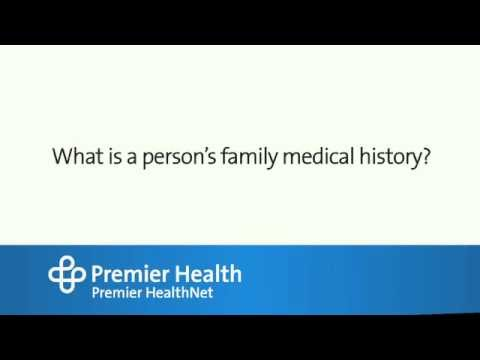 What is a person's family medical history?