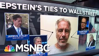NYT Details Epstein's Deep Ties To Wall Street | Velshi & Ruhle | MSNBC
