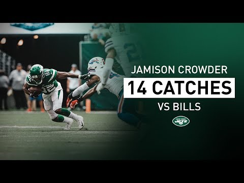 Jamison Crowder Ties Franchise Record With 14 Catches Vs. Bills | New York Jets | NFL
