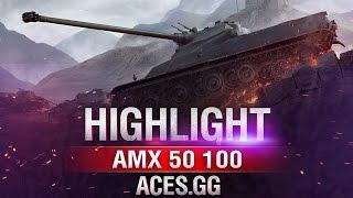 По старинке! AMX 50 100 на карте Химмельсдорф
