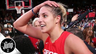 Praising Elena Delle Donne for winning the WNBA title with three herniated discs   The Jump