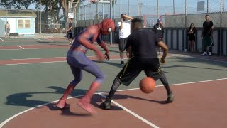 Spider-Man 1v1 vs Crap Talking OG in the HOOD.. Heated Matchup [Unseen Raw Footage]