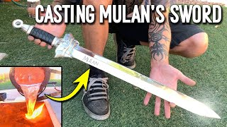 Casting Mulan's Sword From Scrap Aluminum Ingots - DIY Metal Sword Making