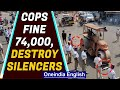 Andhra Police destroy amplified silencers with road roller, fine Motorists
