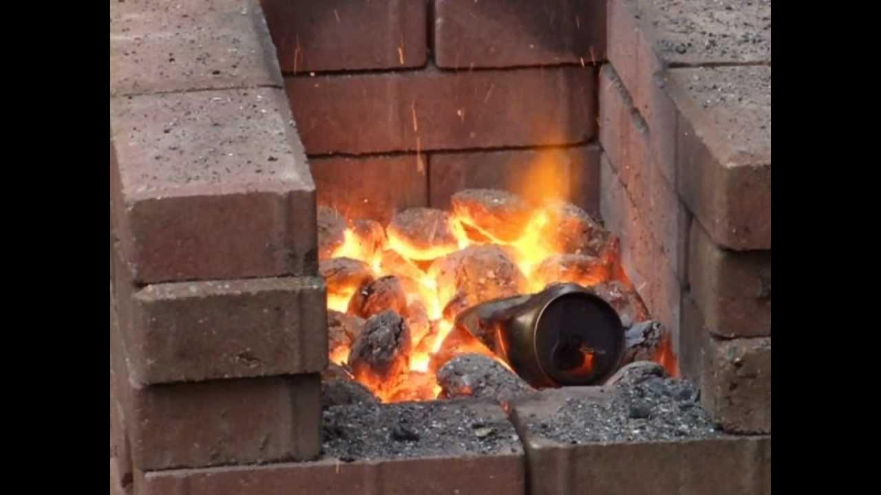 Homemade Blacksmiths Forge Youtube
