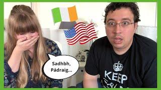 American Learns How To Pronounce Irish Names! 🇮🇪🇺🇸 | IRISH VS AMERICAN
