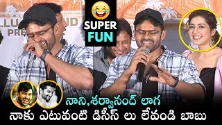 Sai Dharam Tej hilarious comments on hero Nani & Shar..