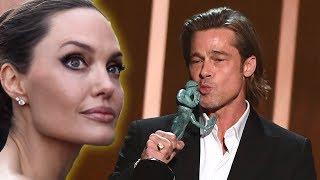 Angelina Jolie Reacts To Brad Pitt & Jennifer Aniston Reunion At SAG Awards