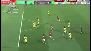 اهداف مباراة الاهلى والمقاولون الاسبوع ال29 5 1 هدف الاهلى الخامس حسام غالى