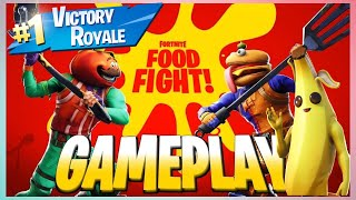 Im Done!! food fight floor is Lava!! Fortnite
