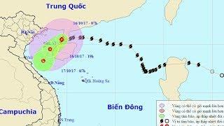 Tin Bão Mới Nhất 2017 : Bão số 11 tiến gần bờ, giật cấp 13 Cảnh Báo Thiên Tai