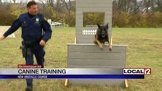 New obstacle course for training police canines