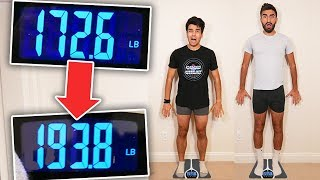 Who Can GAIN The Most Weight in 24 HOURS! *OVERNIGHT FOOD CHALLENGE*