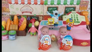 Cash Register Shop Mart, Baby Doll and Surprise Eggs Toys uang tunai daftar toko mart bayi boneka