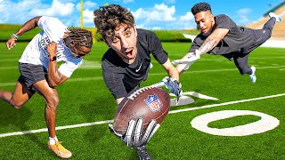 I Challenged Professional Football Players to a 1v1...