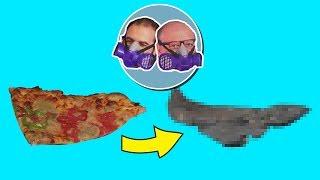 Pizzayı 1 Ay Dışarıda Beklettik - NE HALE GELDİ? + Çiğ Köfte, Baklava, Tavuk But, Suşi