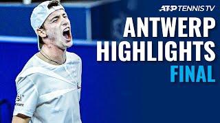 Alex De Minaur vs Ugo Humbert   Antwerp 2020 Final Highlights
