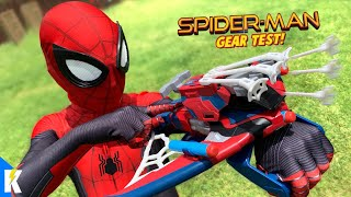 Spider-Man Far From Home Movie Web Shooters Gear Test + Obstacle Course | KIDCITY